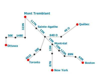 Mont Tremblant - resort map